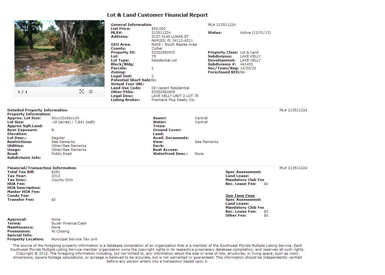 3137-3145 LUNAR ST Naples FL